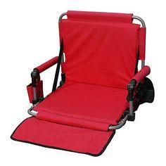 Northwest Territory Padded Stadium Chair - Red