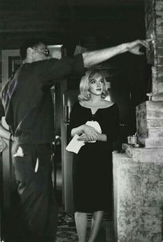 Rare photo of Marilyn Monroe on the set of The Misfits