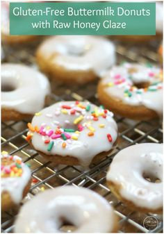 These Gluten-Free Buttermilk Donuts are a crowd please delicious dessert. I say always have dessert first! You can serve these up for an afternoon snack or start your day off with a mini sweet treat!