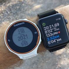 Retomando el running y poniendo a prueba #applewatch va #garmin