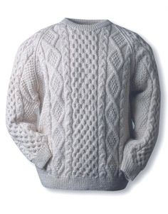 Irish Knit Sweaters don't get any better than our Clan Aran sweater. Authentic hand knit Aran wool sweaters direct from the Aran Sweater Market, Aran Islands, Ireland. Buy your Irish Knit Sweater today.