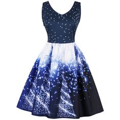 Galaxy Print Circle Dress ❤ liked on Polyvore featuring dresses, blue dresses, solar system dress, circle dress, galaxy print dresses and space print dress