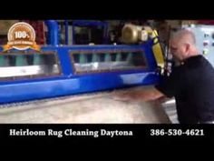 In this video you will see Heirloom Oriental Rug Cleaning's state-of-the-art Rug Duster at work! Peewee, our area rug production manager will show you how the rugs are put into the machine and how the dirt and particles are removed. You will be amazed at the amount of dust removed!