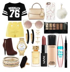 """Sin título #286"" by frichu on Polyvore featuring moda, Boohoo, Boutique Moschino, MICHAEL Michael Kors, Casetify, MANGO, Charlotte Russe, Movado, Kendra Scott y Chico's"