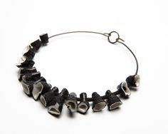 Jorge Manilla -  Without title -  Necklace Porcelain/copper/lace/silk 2008