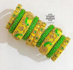 Silk Thread Bangles Design, Silk Bangles, Gold Bangles Design, Bridal Bangles, Bridal Jewelry Sets, Indian Dresses For Women, Bridal Chuda, Handmade Rakhi, Couture Embroidery