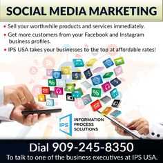 Social media marketing on Instagram brings you, customers, instantly! IPS USA can create & manage your social business profiles and run successful campaigns for you! Drive more customers to your business portal.  www.IPSUSA.net has all the answers to your business needs. #SocialMediaMarketing #SMM #IPSUSA #FacebookMarketing #InstagramBusiness #BoostYourOnlinePresence Facebook Marketing, Social Media Marketing, Social Business, Business Profile, Portal, Campaign, Bring It On, Success, Usa