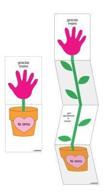 ¡Feliz día de la Madre!  Free Craft Printable  This sweet craft can be used for a Mother's Day card. It says:  gracias mami por ayudarme a crecer te amo