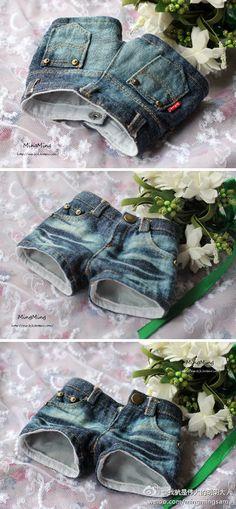 [BJD] baby clothes anti-dyeing denim shorts DD / shorts / jeans 3 min / 16 female / big girl / MDD- Taobao