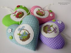 Немного сердечек \ A little hearts #natuljabest #cross_stitch #heart