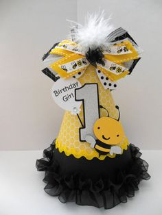 Bee Day Lil' Bumblebee Party Hat  Yellow by SandysSpecialtyShop, $15.50