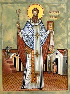 St Basil and the Stupid Arithmetic of the Trinity Nicene Creed, St Basil's, Love Is An Action, Christian Religions, Byzantine Art, Byzantine Icons, Catholic Saints, Orthodox Icons, Saints