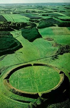 Beautiful Places...Viking Ring Fortress, Trelleborg, Denmark, photo via HistoryTime. https://musetouch.org/?cat=12
