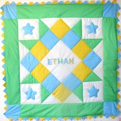 Baby Boy Quilt | Personalized Baby Boy Quilt*