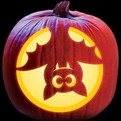 Upside Down Bat - Cute Kids Pattern - Pumpkin Masters Descarga e imprime patrones de talla - Haga clic aquí para imprimir! Imágenes efectivas que le proporcionamos sobre diy face mask sewing - Cute Pumpkin Carving, Halloween Pumpkin Carving Stencils, Halloween Pumpkin Designs, Scary Halloween Pumpkins, Best Pumpkin Carvings, Halloween Halloween, Carving Pumpkins, Pumpkin Designs Carved, Disney Pumpkin Carving