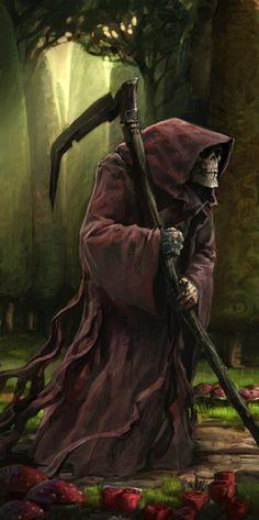 Grim Reaper by Vihola on DeviantArt Death Reaper, Grim Reaper Art, Grim Reaper Tattoo, Don't Fear The Reaper, Dark Fantasy Art, Dark Art, Bild Tattoos, Angel Of Death, Angels And Demons