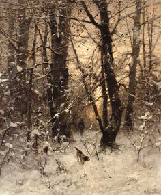 Winter Twilight - Ludvig Munthe 1891