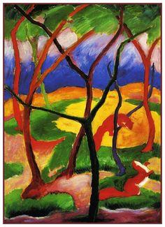 Expressionismus in Deutschland — Franz Marc, Weasels Playing, 1911 Franz Marc, Wassily Kandinsky, August Macke, Artist Canvas, Canvas Art, Canvas Poster, Cavalier Bleu, Blue Rider, Oeuvre D'art