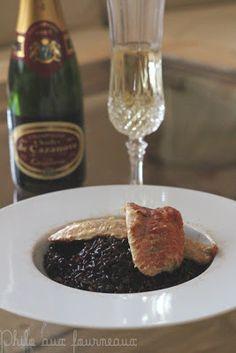 Risotto Vénéré au champagne & filet de rouget fumé