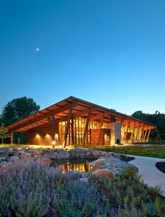 2014 U. Wood Design Award Winners,James and Anne Robinson Nature Center / GWWO, Inc. Wood Architecture, Beautiful Architecture, Architecture Details, Exterior Design, Interior And Exterior, Anne Robinson, Mountain Dream Homes, Timber Buildings, Property Design