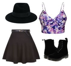 """Purple"" by mohamedhunny on Polyvore featuring Ally Fashion, New Look, Dr. Martens and Maison Michel"