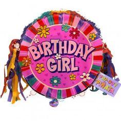 Birthday Girl Pinata - Mexican Party Ideas