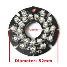 24 LEDs 5mm Infrared 60 Degrees Bulbs 850nm IR Board Illuminator For CCTV Camera