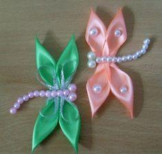DIY Tutorial: DIY Ribbon Crafts / DIY Kanzashi Satin Ribbon Dragonfly - Bead&Cord