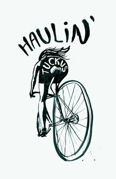 Haulin' Tuckus #print #done #illustration #drawn #fun #hand #typography