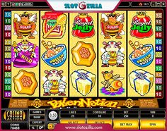 Spend some time in the world of bees playing Pollen Nation slot by Microgaming   There's a gazillion golden nectar and cash within the slot! Get in with the buddy bee's and win solid prizes!  Click & Play at www.slotozilla.com | http://www.slotozilla.com/free-slots/pollen-nation