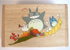 My Neighbor Totoro Name card Hand Paint wood Box Studio Ghibli 18. $14.50, via Etsy.