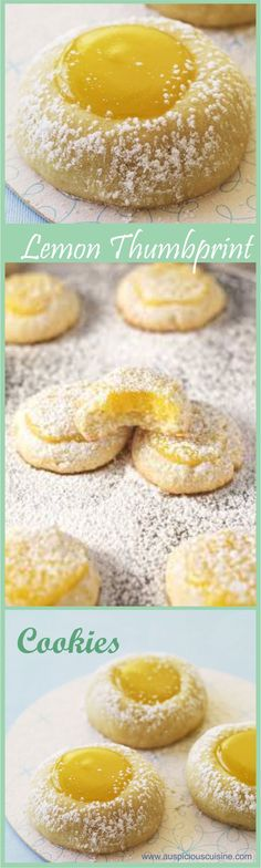 Make your lemon curd or use store-bought, these Lemon Thumbprint Cookies are tart and tasty. Enjoy these cookies with tea.