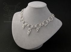Helms weave/varying sizes necklace