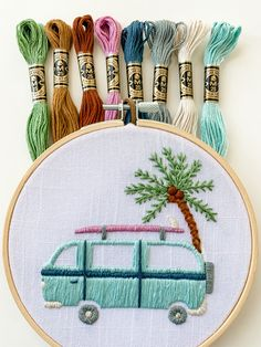 Modern Embroidery, Embroidery Ideas, Hand Embroidery, Learning To Embroider, Embroidery Needles, Dmc Floss, Embroidery For Beginners, Stitches, Etsy Shop