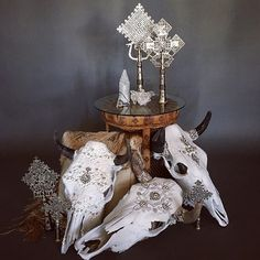 WEBSTA @ child_of_wild - ✥↠ T R E A S U R E D things. We are launching new products in our home and objects section soon! Stay tuned ✌️ #childofwild #treasures #cowskulls @powwowdesignstudio