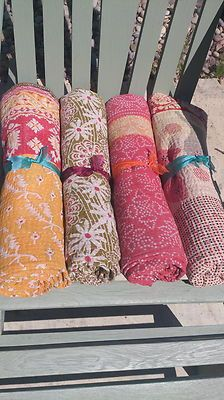 Unique Indian Vintage Kantha Baby Blankets #BabyBlankets #VintageKanthaQuilts #GiftIdeas #ChristeningPresents  www.thebohemianbeachcompany.com Bohemian Beach, Christening, Presents, Baby Blankets, Unique, Indian, Vintage, Gifts, Baby Afghans