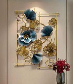 Metal Flower Wall Art, Metal Art Decor, Floral Wall Art, Metal Wall Art, Modern Tv Wall, Bedroom Decor, Wall Decor, Small Apartment Decorating, Flower Wall Stickers