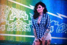 Tatu Baby Tatu Baby, Female Tattoo Artists, Tattoo Models, Pin Up, Plaid, Tattoos, Artwork, Shirts, Tops