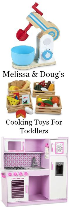 melissa and doug cooking toys for Toddlers. All wood, well designed toys. Find reviews and pricing here: http://xacey.com/melissa-and-doug-cooking-toys/