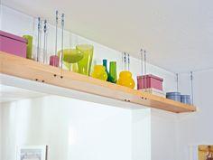 Mensole sospese al soffitto