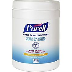 Purell Sanitizing Wipes White Ethyl Alcohol Lint Free