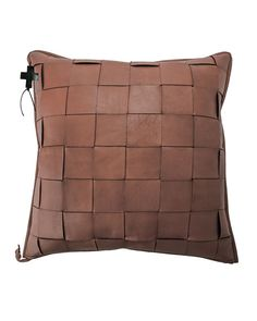 Shop Saddle Trenza Woven Leather Pillow from Jan Barboglio at Horchow, where you'll find new lower shipping on hundreds of home furnishings and gifts. Diy Pillows, Decorative Pillows, Throw Pillows, Accent Pillows, Cushions, Iron Accessories, Back Of Hand, Staircase Makeover, Leather Pillow