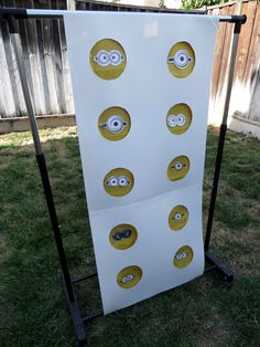 punch-a-minion! instead of the usual pinata, kids will get a surprise gift inside. A Trivia question about the celebrant is asked before they could punch a minion.
