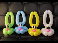 3 balloon bunny rabbit step by step instructions and real time - YouTube