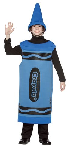 Blue Crayola Crayon Tween Costume  sc 1 st  Pinterest : tween crayon costume  - Germanpascual.Com