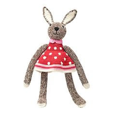 .Hand Crochet Bunny - Brown – The Tiny Finch