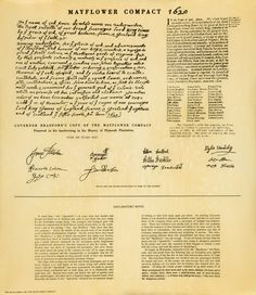 Mayflower Compact Signatures