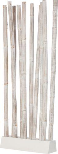 rattan raumteiler jungle wei paravent aus rattanst ben die l sung f r wohnung b ro oder. Black Bedroom Furniture Sets. Home Design Ideas