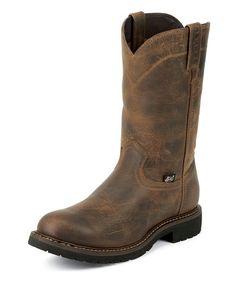 "Men's Rugged Utah 10"" Round Steel Toe Boot"