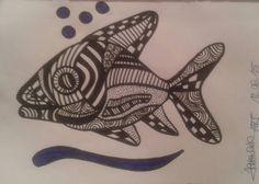 Fishpower, Fish, doodle, zendoodle, crtez, zeichnung, creative